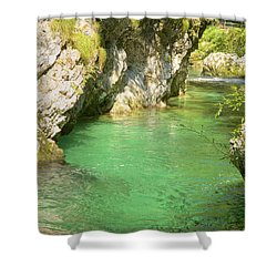 The Vintgar Gorge Shower Curtain