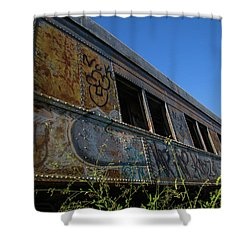 Shower Curtain featuring the photograph Train Art by Dart Humeston
