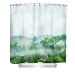 Tropical Forest Shower Curtain