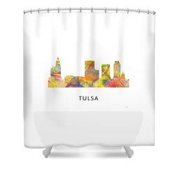 Tulsa Oklahoma Skyline Shower Curtain by Marlene Watson