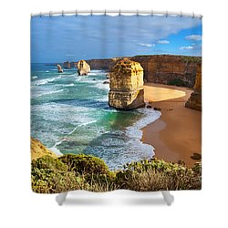 Twelve Apostles Great Ocean Road Shower Curtain by Bill  Robinson