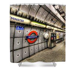 Underground London Shower Curtain
