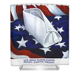 Shower Curtain featuring the  U.s. Army Nurse Corps by Marlyn Boyd