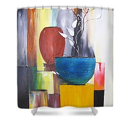 3 Vases Shower Curtain