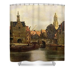 View Of Delft Shower Curtain by Jan Vermeer