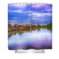 Shower Curtain featuring the photograph Village by Charuhas Images