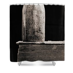 Shower Curtain featuring the photograph Vintage Beer Bottle #00803 by Andrey  Godyaykin