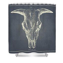 Vintage Ox Head Shower Curtain