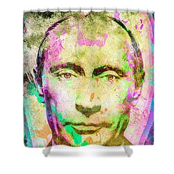 Vladimir Putin Shower Curtain by Svelby Art