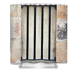 Window Bars Shower Curtain