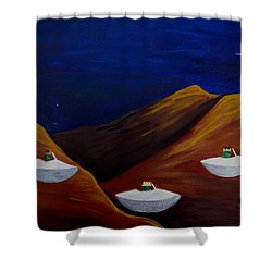 3 Wise Guys Shower Curtain