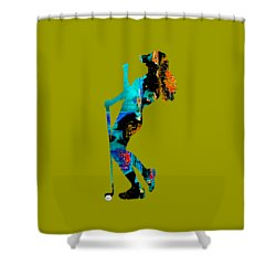 Womens Golf Collection Shower Curtain by Marvin Blaine