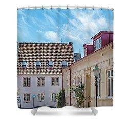 Shower Curtain featuring the photograph Ystad Street Scene by Antony McAulay