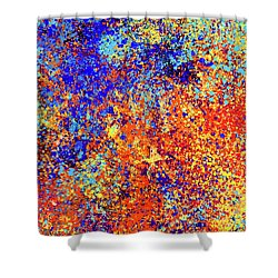 Shower Curtain featuring the painting Abstract Composition by Samiran Sarkar
