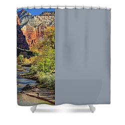 Zion National Park Utah Shower Curtain by Utah Images