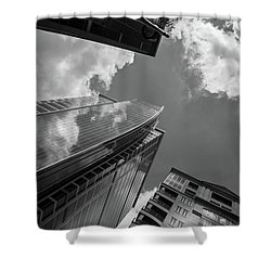 300 South Tryon In Black And White Shower Curtain