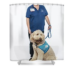 3010.055 Therapet Shower Curtain by M K  Miller