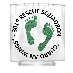 301st Rescue Squadron Shower Curtain