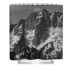304630 Bw North Face Mt. Stuart Shower Curtain