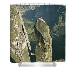 306540 Climbers On Lost Arrow 1967 Shower Curtain