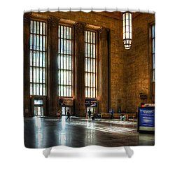 30th Street Station Shower Curtain by Rick Mosher