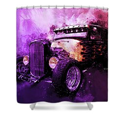 31 Ford Model A Fiery Hot Rod Classic Shower Curtain