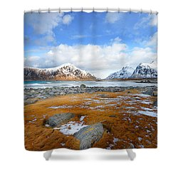 32 Blues Shower Curtain