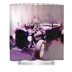 32 Ford Low Boy Roadster Watercoloured Sketch Shower Curtain