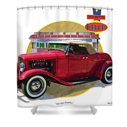 32 Red Roadster Shower Curtain