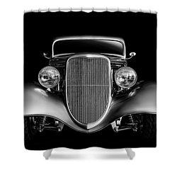 Shower Curtain featuring the digital art '33 Ford Hotrod by Douglas Pittman