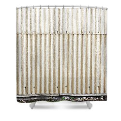 Metal Background Shower Curtain
