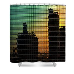 333 Wacker Reflecting Chicago Shower Curtain by Steve Gadomski