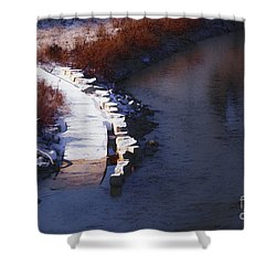 33rd And Canal Shower Curtain by David Blank