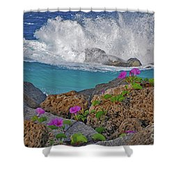 34- Beauty And Power Shower Curtain by Joseph Keane
