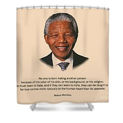 34- No One Is Born Hating Shower Curtain
