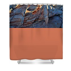 Shower Curtain featuring the photograph Colorful Sandstone In Valley Of Fire by Ray Mathis