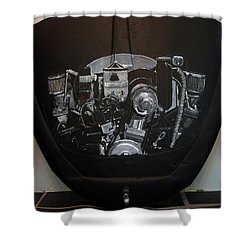 356 Porsche Engine On A Vw Cover Shower Curtain