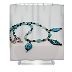 3564 Shell And Semi Precious Stone Necklace Shower Curtain by Teresa Mucha