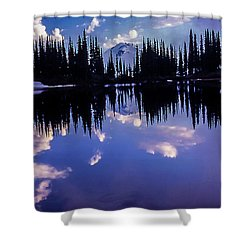 35mm Scan Of Image Lake And Glacier Peak Shower Curtain
