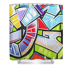 Graffiti Shower Curtain by Muhie Kanawati