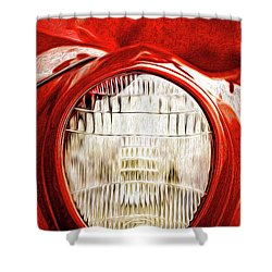 Shower Curtain featuring the mixed media 37 Ford Oil Photo by Onyonet  Photo Studios