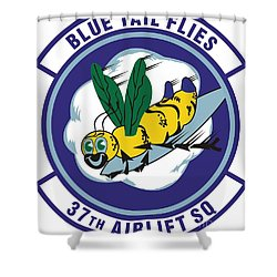 37th Tactical Airlift Squadron Shower Curtain by David Bearden
