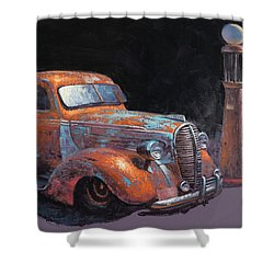 38 Fat Fender Ford Shower Curtain