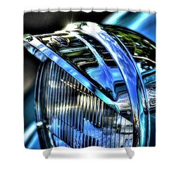 38 Ford Headlamp Shower Curtain