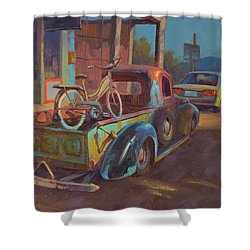 38' Ford In Jerome, Az Shower Curtain