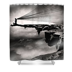 No Title  Shower Curtain by Mariusz Zawadzki