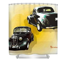 '38 Plymouth Shower Curtain by Sadie Reneau