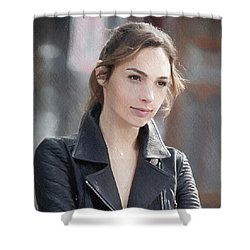 Gal Gadot Art Shower Curtain by Best Actors