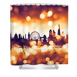 London England Skyline Shower Curtain