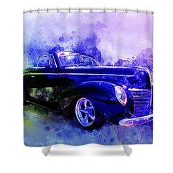 39 Mercury Convertible Watercolour Sketch Shower Curtain